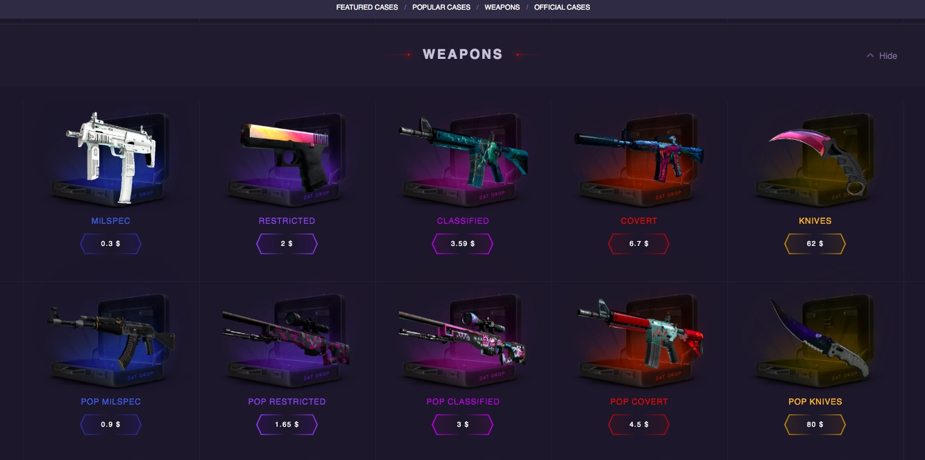 Datdrop.com weapons