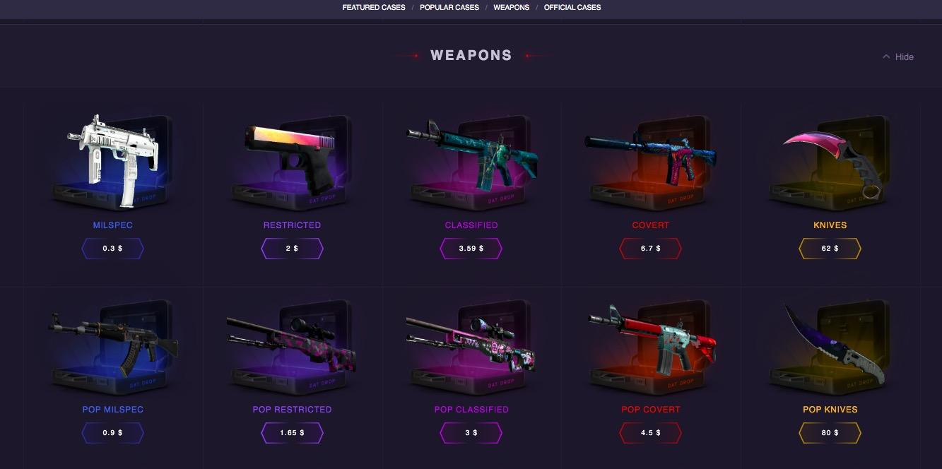 Datdrop.com weapons