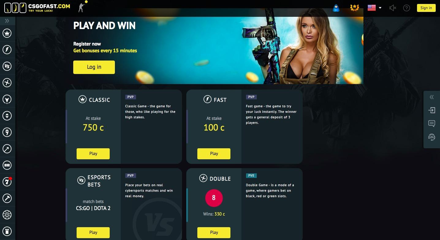 CSGOFAST.COM main page