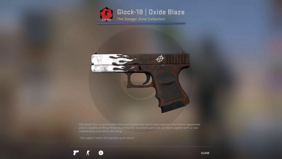 Glock-18: Oxide Blaze